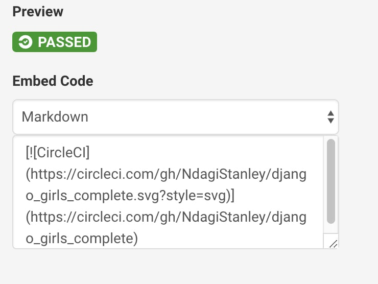 Embedded code
