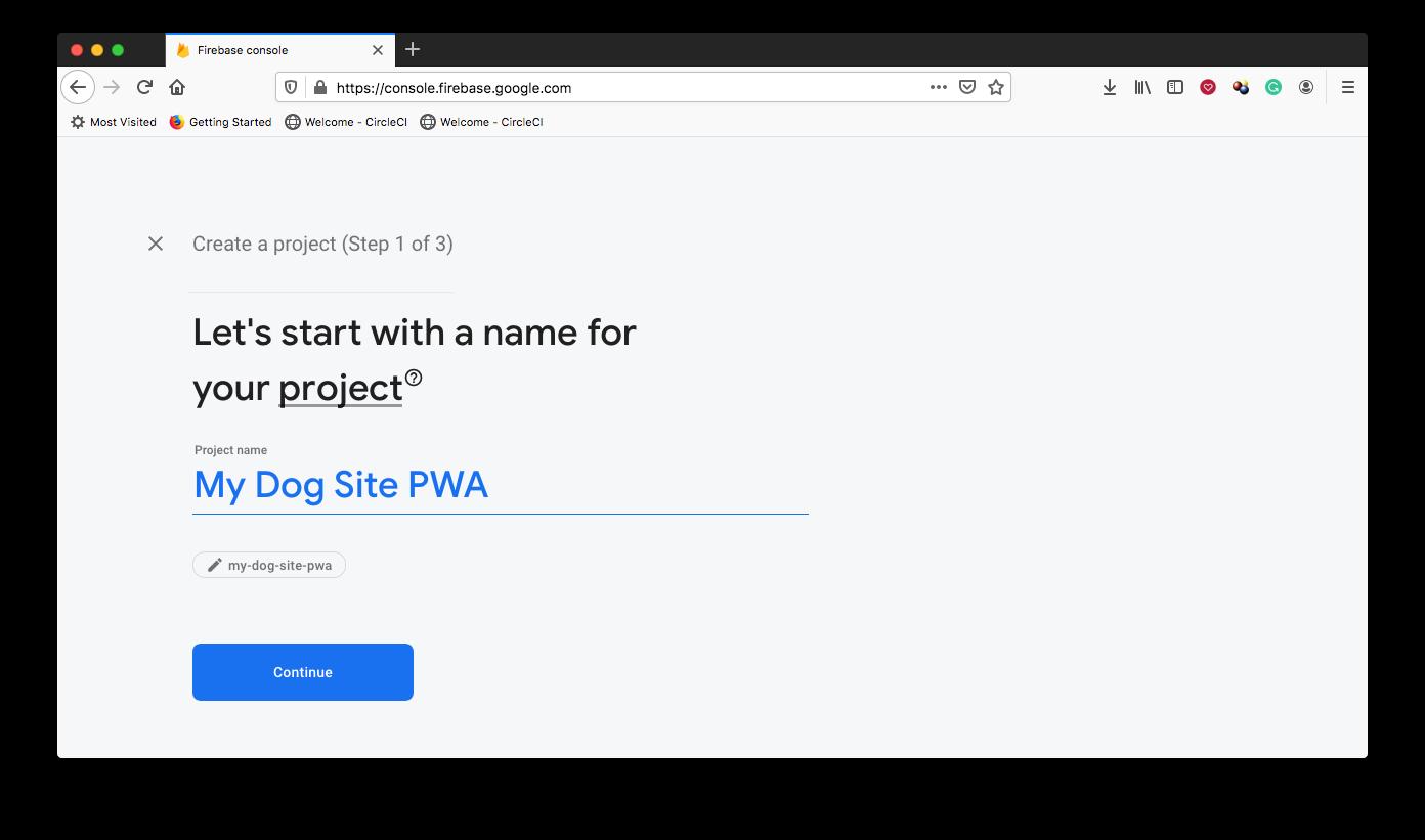 Create Firebase Project