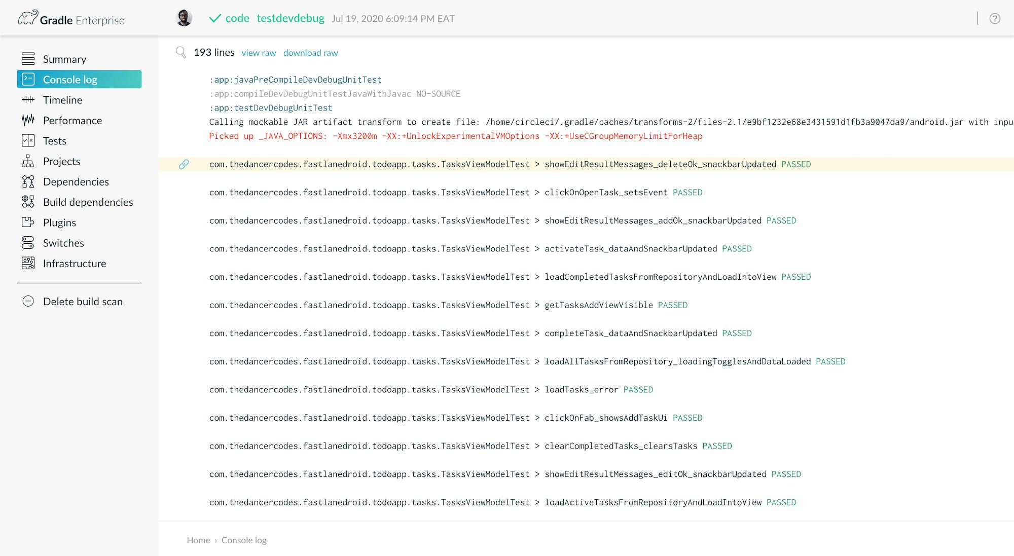 CI Build Scan 3