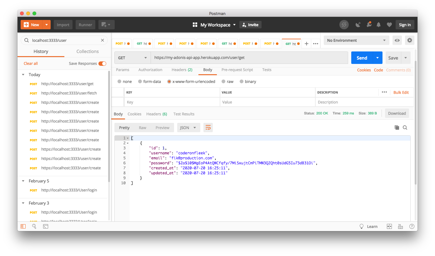 API Live - Heroku