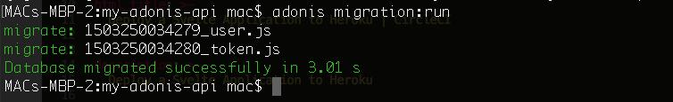 Migrations Run
