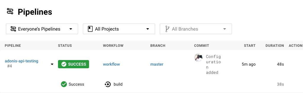 Build Successful - CircleCI