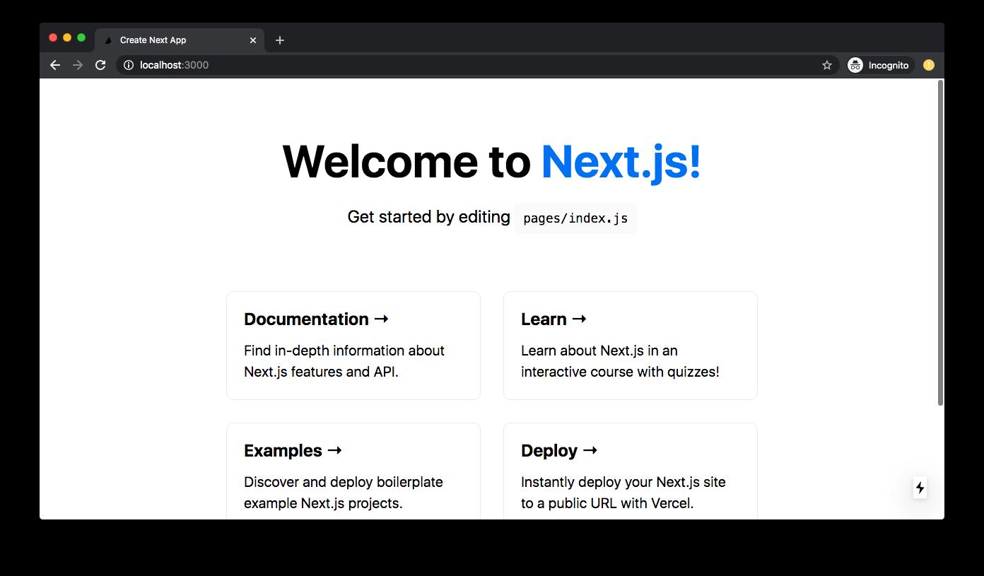 New App (Local) - Next.js