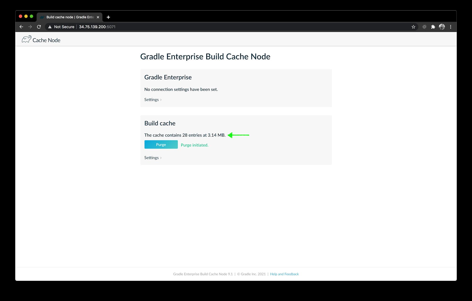 Build Cache Node