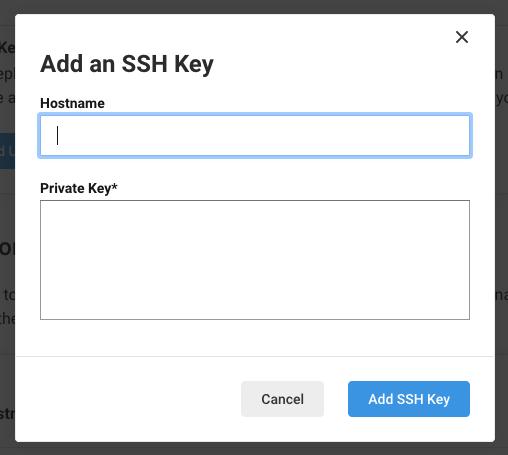 Add SSH Key - CircleCI