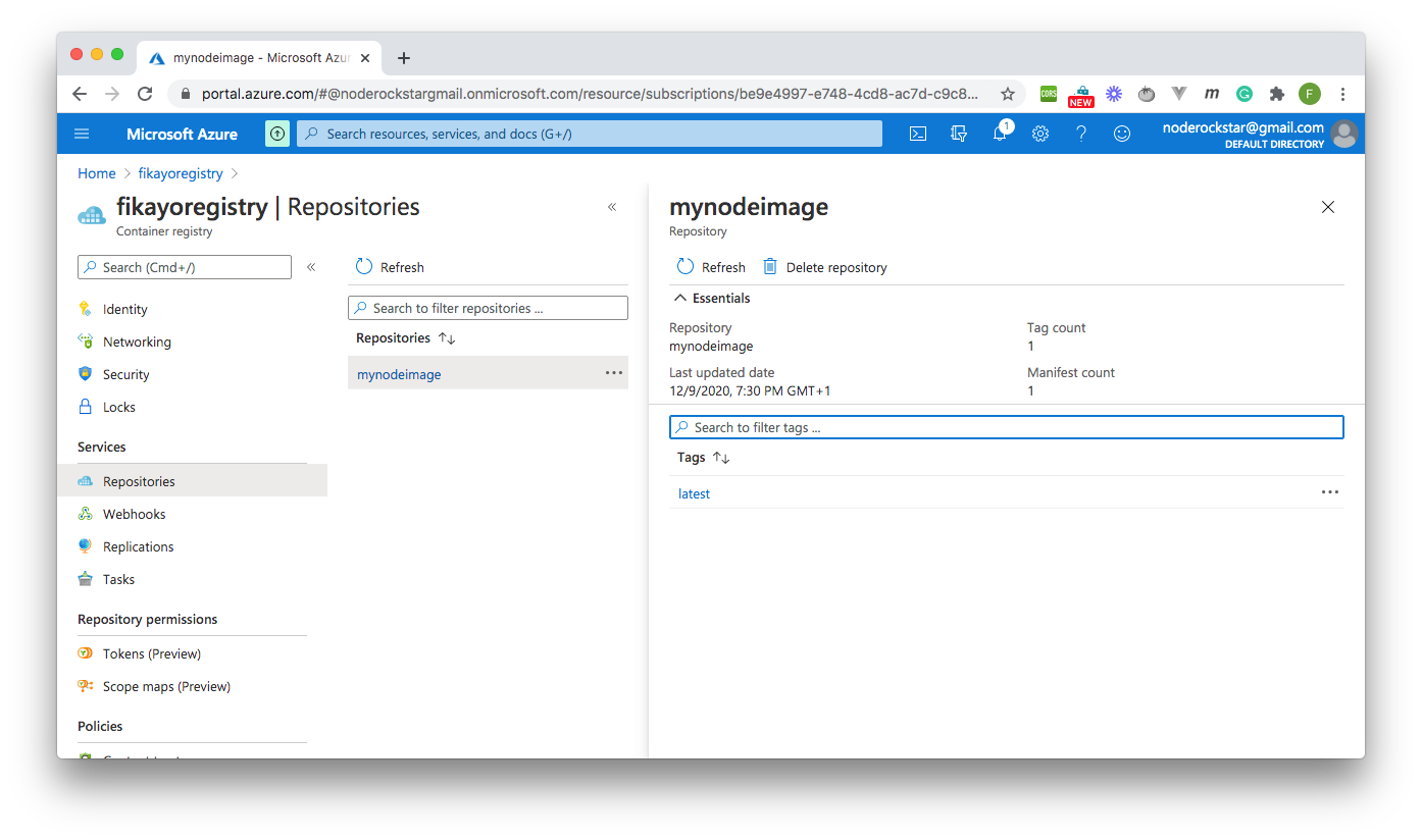 Docker Image - Azure Container Registry