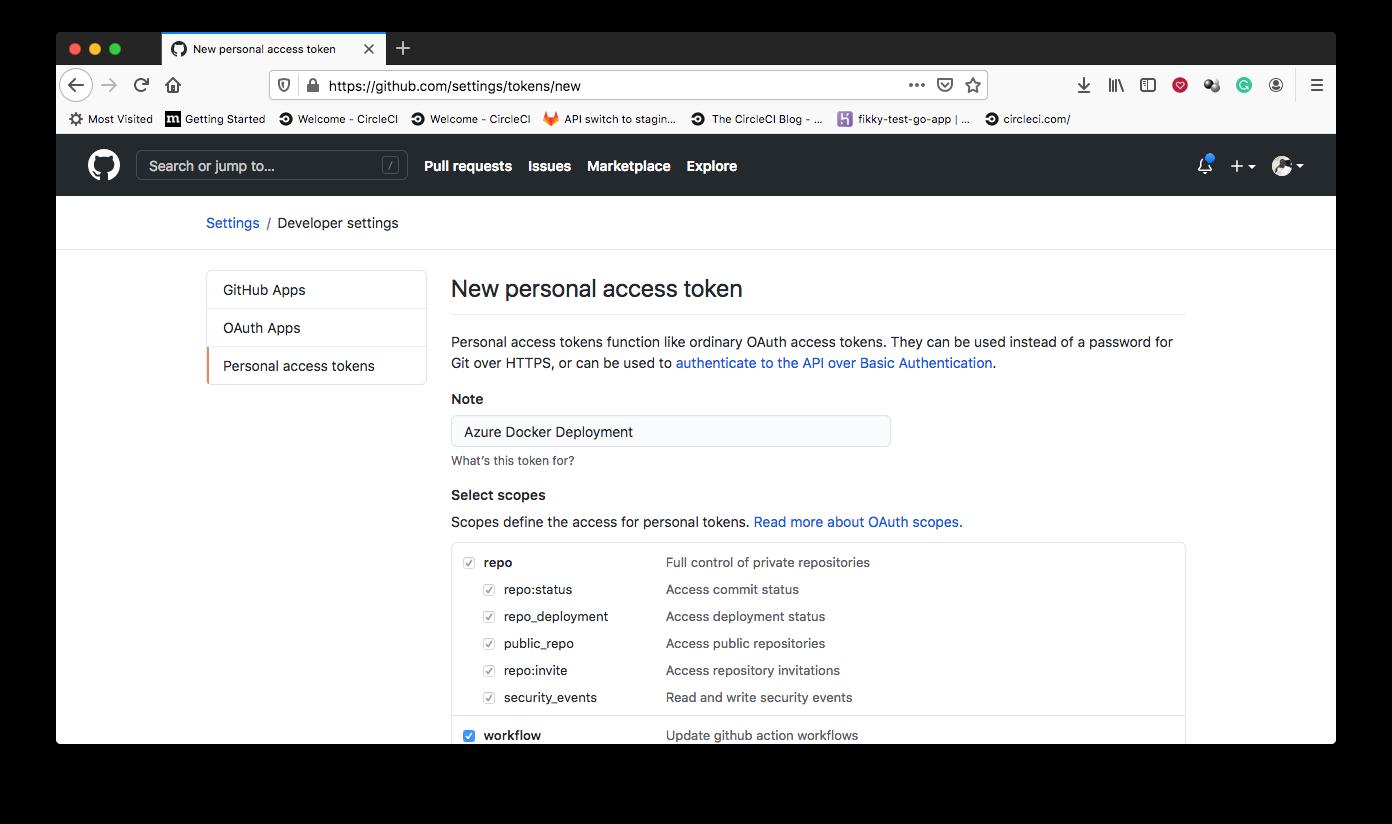 GitHub token - GitHub