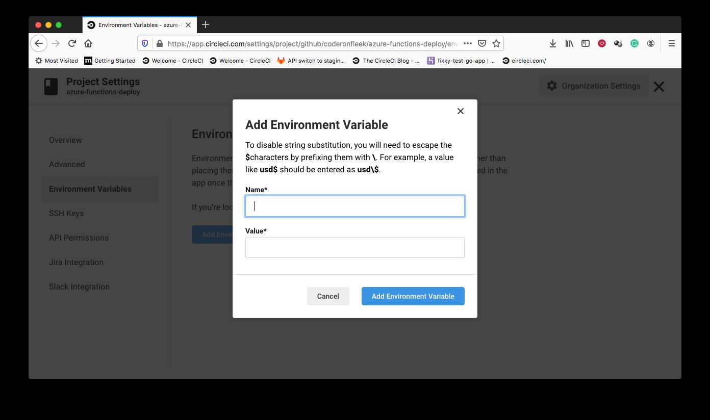 Add Environment Variable - CircleCI