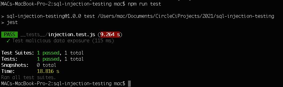 Test Passed - CLI