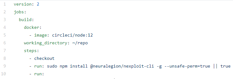 Output of NexPloit CLI