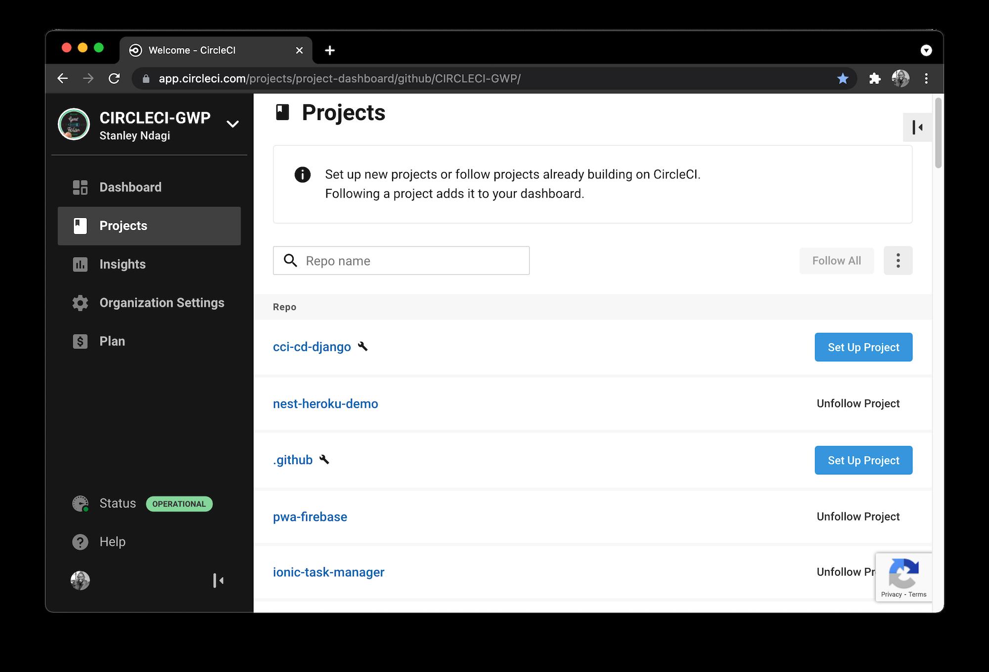 Add Project - CircleCI