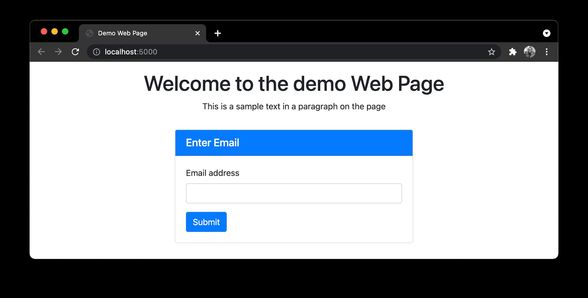 Homepage - Demo App