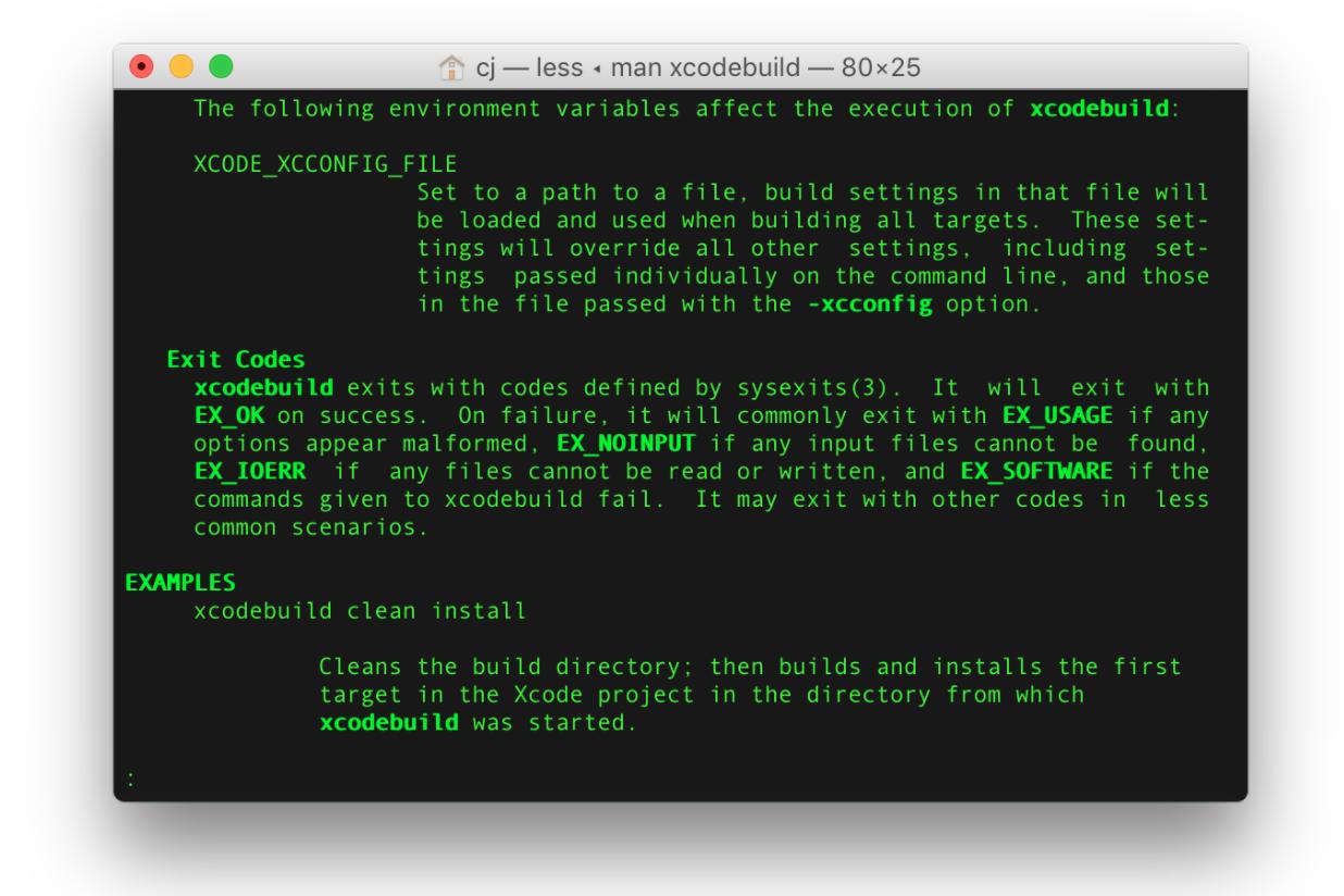 xcodebuild exit code 65