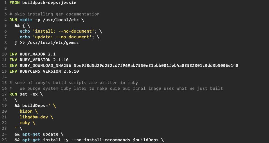 Custom Dockerfile